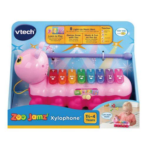 Vtech 2合1動感敲敲毛毛蟲-粉