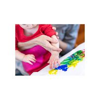 Crayola繪兒樂幼兒可水洗手指畫顏料4色組