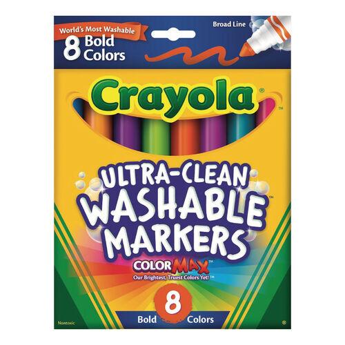 Crayola繪兒樂 可水洗粗頭彩色筆明亮色8色