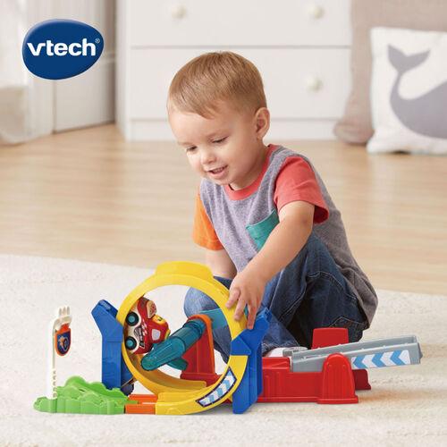Vtech 嘟嘟聲光互動車-360度旋轉軌道組